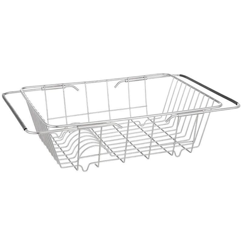 Disque à séchage en vaisselle extensible XD sur l'évier, cuisine en acier inoxydable de cuisine dans l'évier ou sur le comptoir Organisation de stockage de cuisine