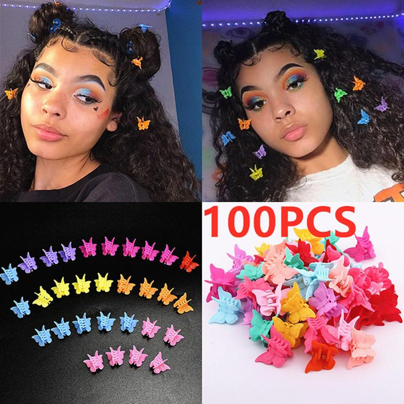 Clips Hairpin10/20/100pcs Cute Mixed Color Butterfly Claw Barrettes Mini Clamps Jaw Hairpin Headdress Hair Styling Accessories