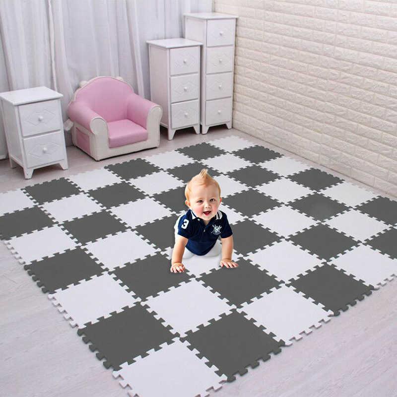 Meiqicool baby EVA Foam Interlocking Exercise Gym Floor play mats rug Protective Tile Flooring carpets 30X30cm 9 or 18pcs/lot, H0831