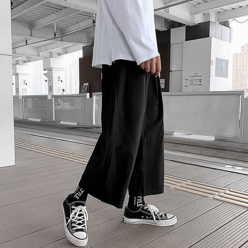 Pantalones anchos Pantalones de pierna Hombre Limitados Capris