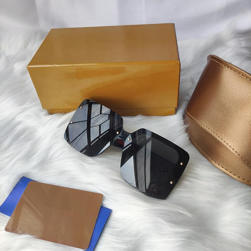 Top Quality brand designer sunglasses For Women Special UV Protection Goggle Vintage big square Come With Package