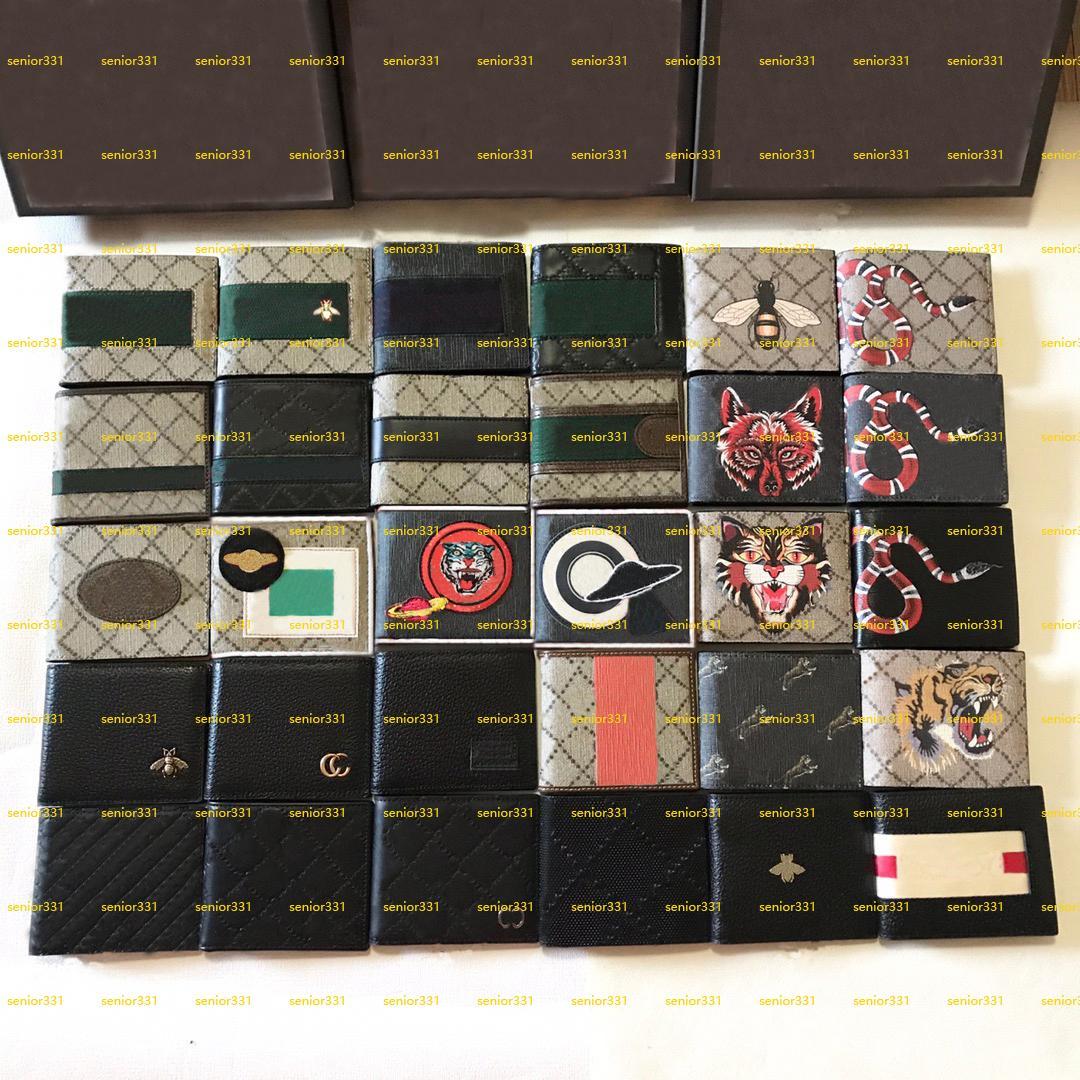 Lotes Styles Top Quality Canvas Genuinel Cuero Cadena de la Cadena de Cadena con Caja Luxurys Designers Monedero Titular de la Tarjeta de Crédito