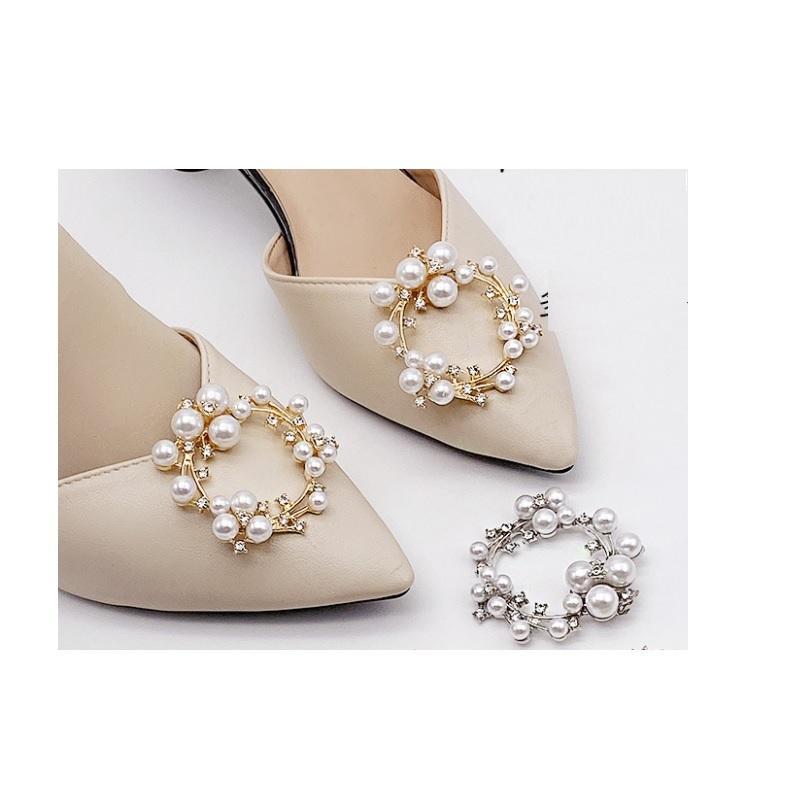 Crystal Shoes Accessori Accessori Clip Scarpa Decorazione per Partito Bridal Wedding Flower Charms Donne Pump Pump Boots Clip Ornamento