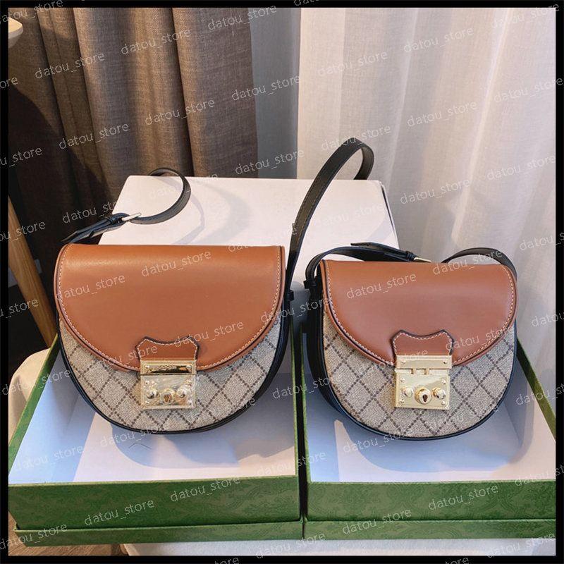 Çanta Kadın Lüks Tasarımcılar Çanta Asma Kilit Mesaj Moda 1955 Horsbit Tasarımcısı Bayan Crossbody Eyer Çantası Çanta Çantalar Mini Telefon Kutusu