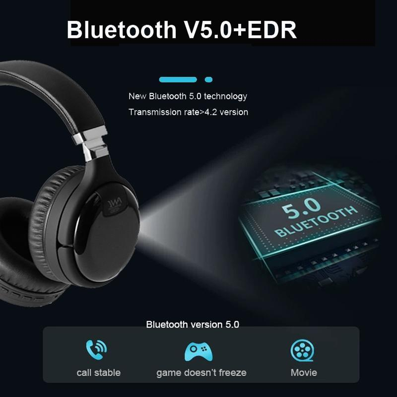 & MP4 Players Bluetooth Headphones Wired Wireless Headset Active Noise Cancelling Headphone Deep Bass With MIC For PC Phone