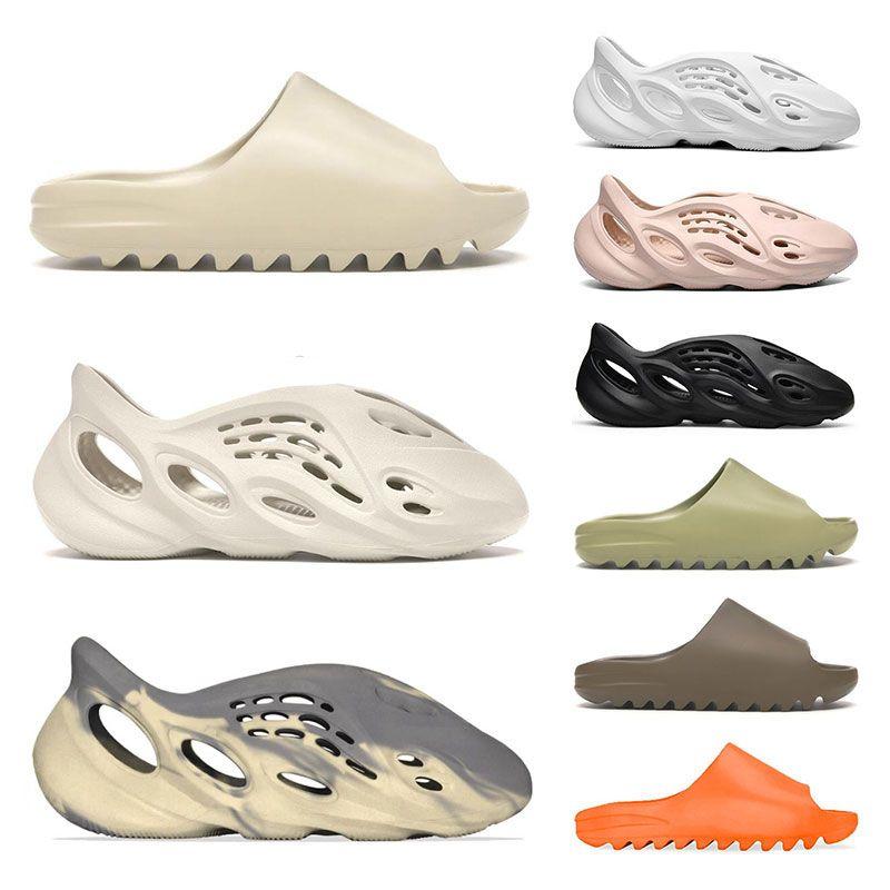 slide kanye west slippers  HYPER PINK 플래티넘 색조 코어 블랙 레이서 블루 트레이너 체육 스포츠 운동화 크기 36-46를 실행