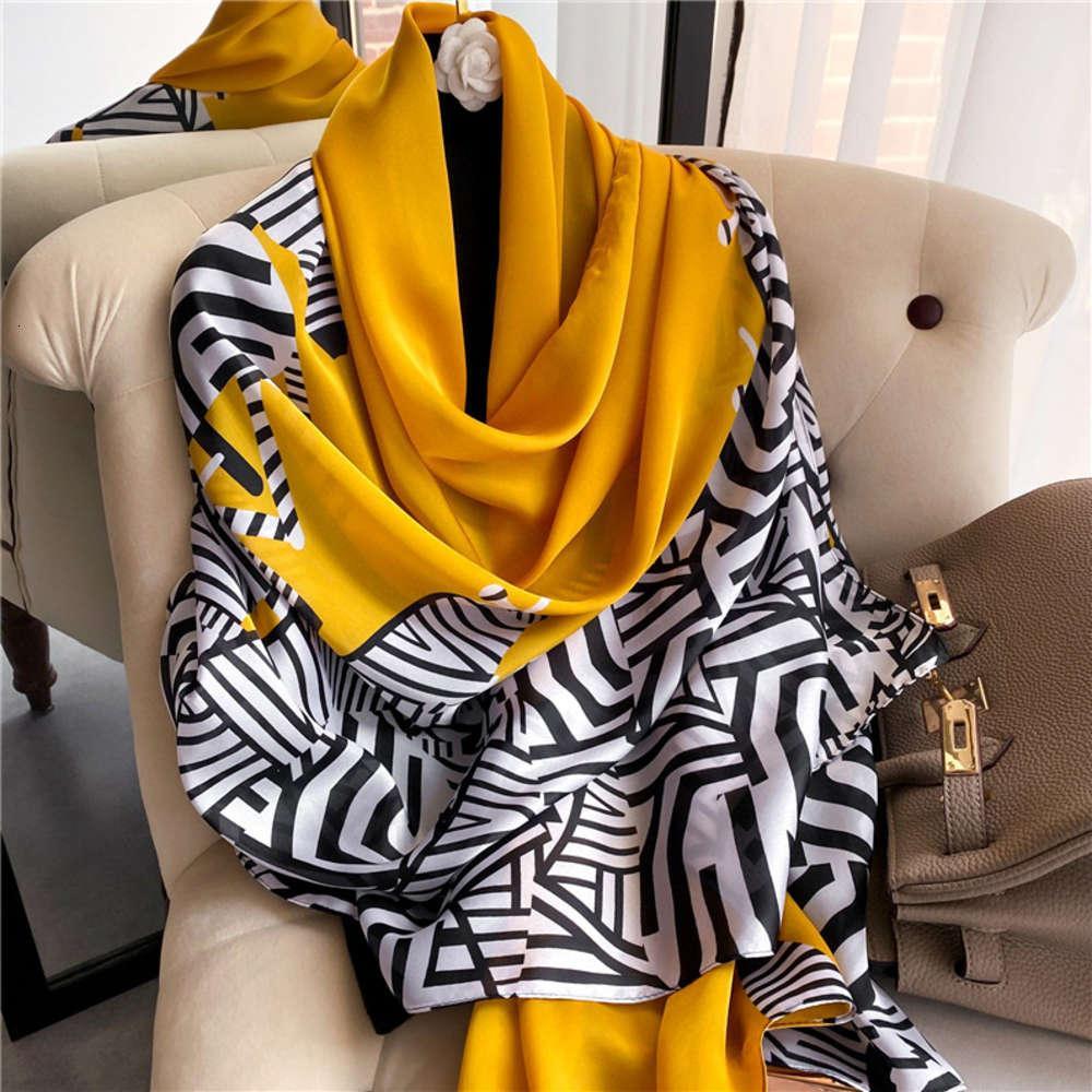 Elevata qualità DesignerNew Plaid Viaggio Sunscreen Stampa Scarpa di seta coreano Asciugamano da spiaggia a mosaico a striped