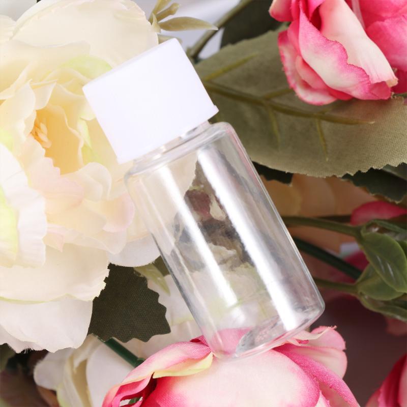 25pcs 10ml frascos de amostra recarregáveis frasco de garrafa de loção de loção de banho frascos de armazenamento
