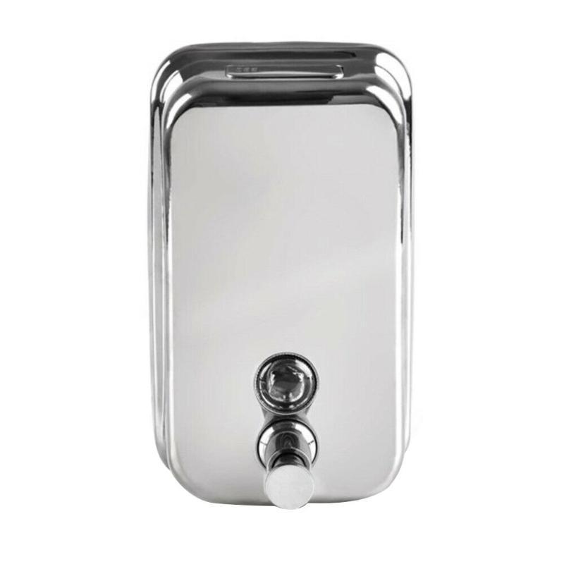 Dispensador de jabón líquido de acero inoxidable de acero inoxidable de pared de baño Ahorre más espacio para recarga y tapa para la cocina