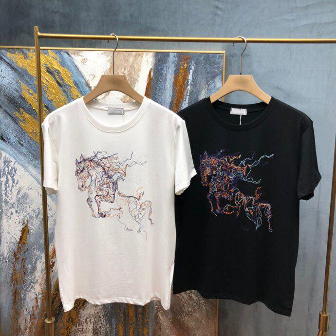 Na moda em torno do pescoço mangas colete colete colete layout solto all-match masculino roupas de algodão neutro t-shirt de mangas curtas 3655