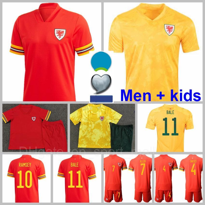 2021 المنتخب الوطني ويلز لكرة القدم جيرسي 11 غاريث بيل 10 آرون 19 بروكس 18 النواب 4 ديف 16 ويلسون 6 ويليامز 1 هينيسي لكرة القدم قميص أطقم الرجال الأصفر الأحمر
