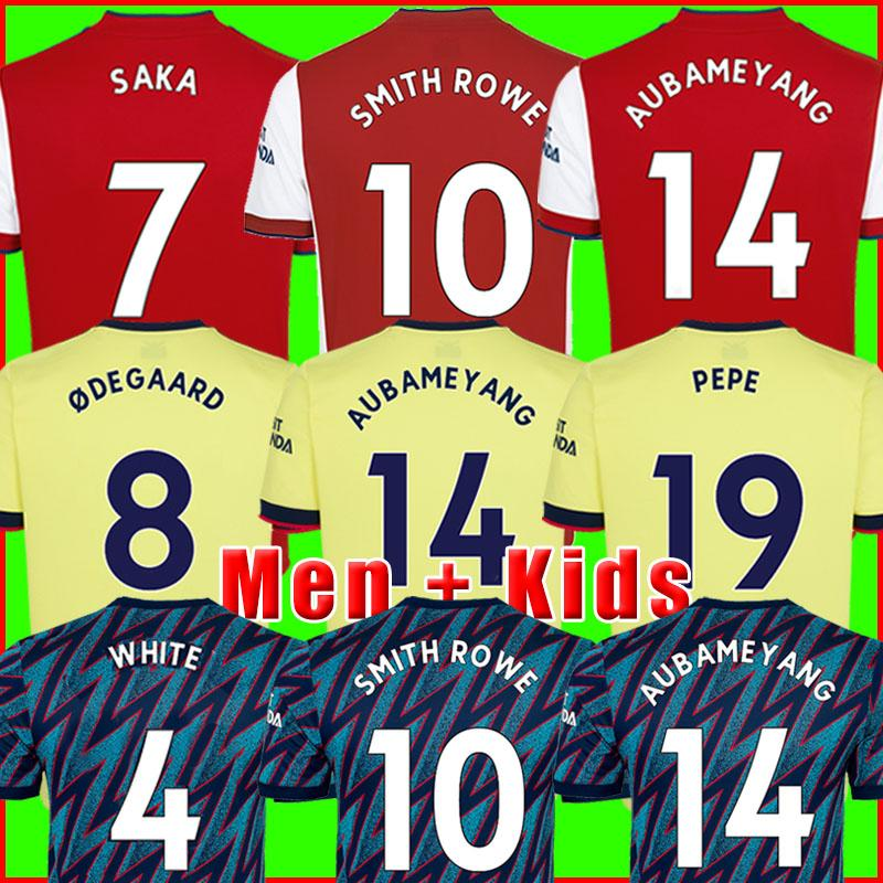 Maillot de foot Arsen 21 22 PEPE SAKA Fans Version joueur Gunners ØDEGAARD THOMAS WILLIAN NICOLAS TIERNEY SMITH ROWE Maillots football 2021 2022 Kit hommes + enfants enfant de la