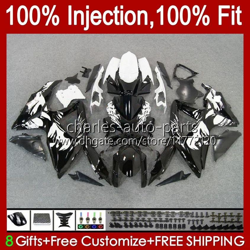 Spritzgussform für Suzuki GSXR600 K8 GSX-R750 Graffiti Black GSXR-600 GSXR-750 GSXR750 BODYWORK 9HC.5 GSX-R600 2008 2009 2010 GSXR 600 750 CC 600cc 750cc 08 09 10 Verkleidung