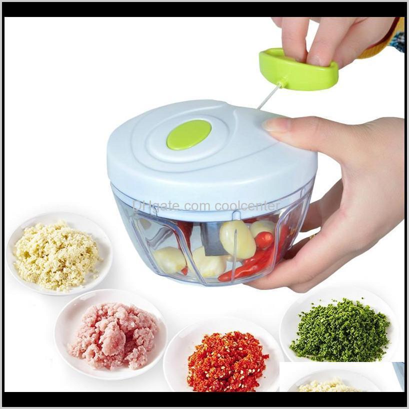 Obstküche, Essbar Hausgarten Drop Lieferung 2021 Speedy Chopper Food Prozessoren Fleisch Gemüse Manuelle Slicers Kunststoff Mincer Kitche