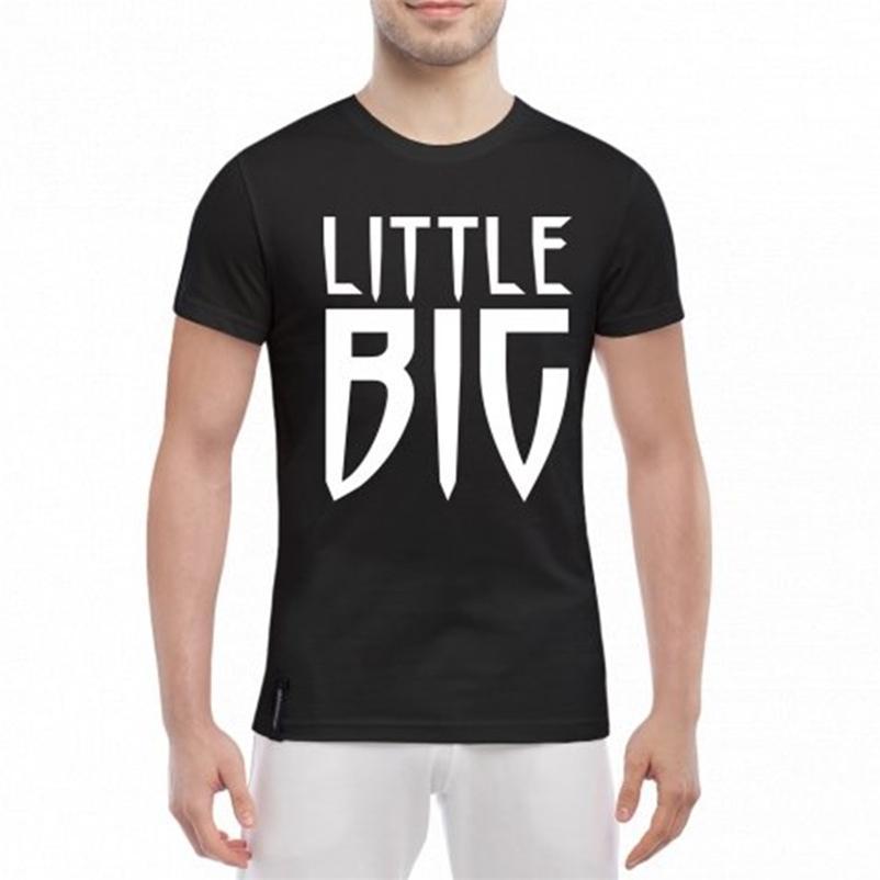 Küçük büyük grup Rus tarzı siyah yaz pamuk erkek tee-shirt erkek tee üst 210629