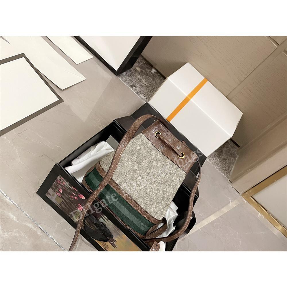 Ophidia 2021 SS الفاخرة مصمم نسخة تحديث الصليب الجسم حقيبة جلد البقر مهرج مخطط سلسلة دلو حقائب سيدة الأزياء حقيبة الكتف حقيبة اليد