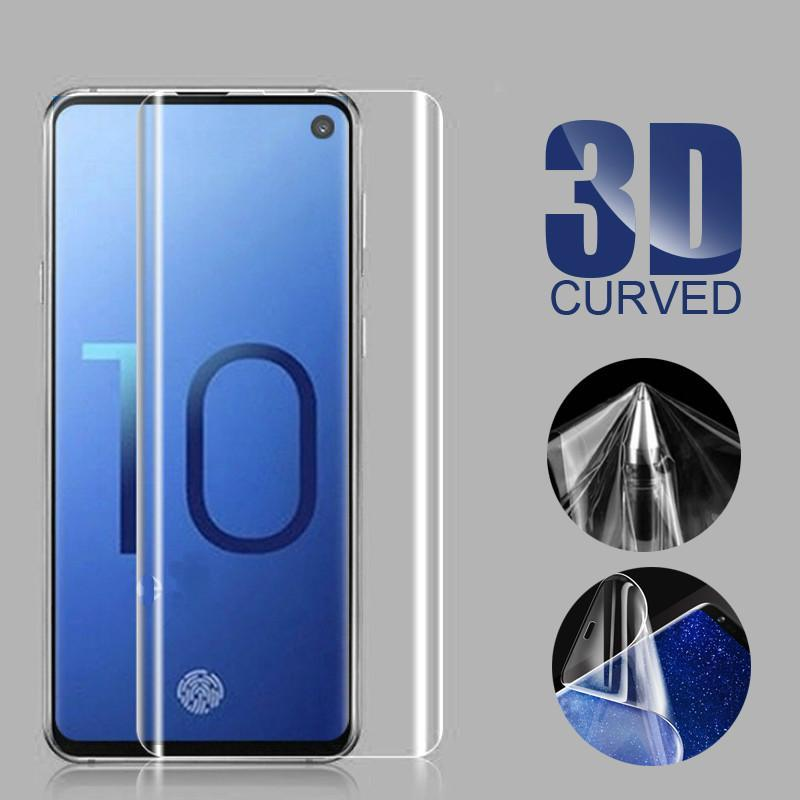 Full Coverage Curved 3D Cover Screen Protectors Soft Film For Samsung S8 S9 Plus S10 S10e S20 S21 Note 8 9 10 20 Not tempered Glass