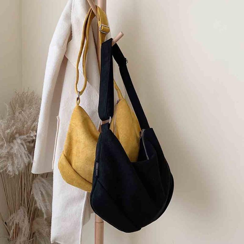 Cervos pelúcia simples ombro mensageiro saco cor sólida mulheres pacote de luxo bolsas mulheres sacos designer torebka damska novo #s