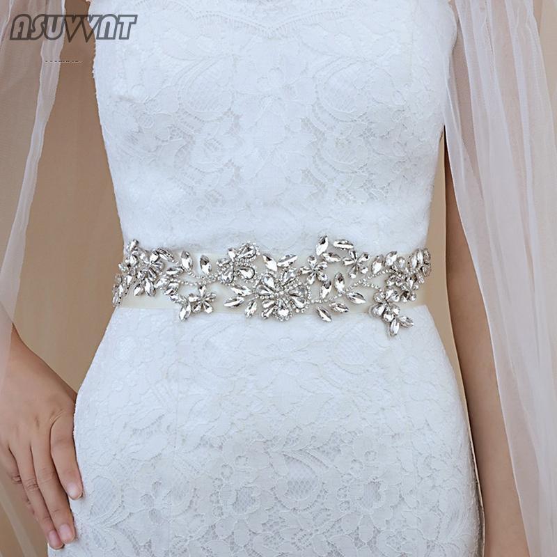 Wedding Sashes Luxurious Belt Fashion Crystal Rhinestone Bride Bridesmaid Sash For Women Evening Party Dress Up Accessories