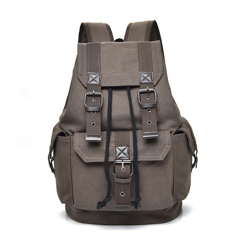 Рюкзак мужская винтажная холст школьная сумка мужчины путешествия сумки большой емкости Bagpack бренд спорт задний пакет Bookbag Boy 2021