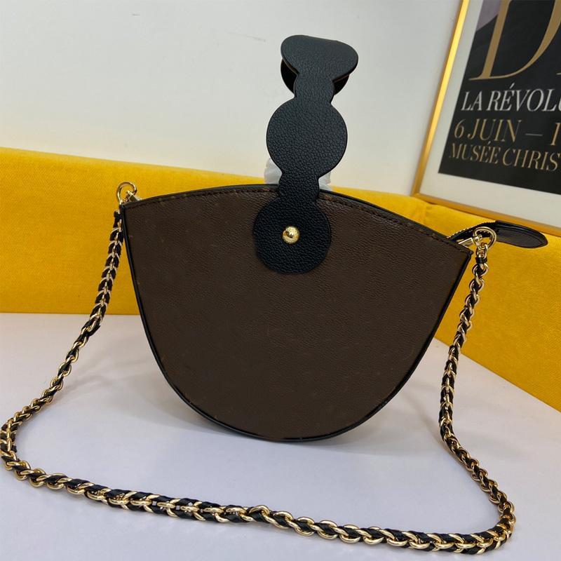Sac à selle Chaîne Bandbody Sacs Sac à main Mode Fashion Cuir Véritable Boucle magnétique à deux épaules Zipper Lettres imprimées