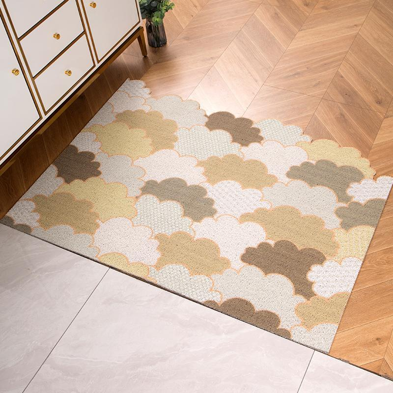Porta esteira tapete sala de estar casa de banho mats anti-derrapante cozinha pvc pode ser cortado laço de seda tapetes de entrada
