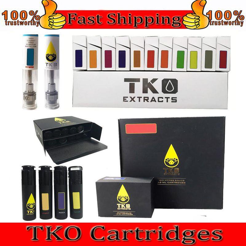 TKO VAPE PEN-PAT-KATRONEN VERPACKUNG 0.8ML 1ML-Keramik-dickem Ölzerstäuber 510 Thread E-Zigarettenkekse