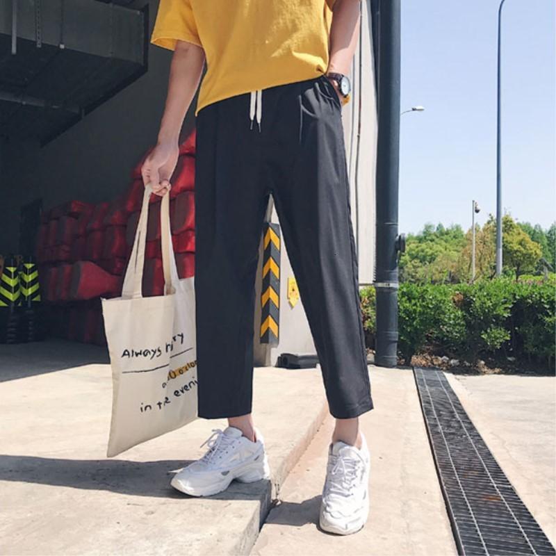 Buscar Nuevos Hombres Tubos Right Right Single Long Corean Style Casual suelto Hombre Pierna Salvaje Pierna Juggers Straight Broek
