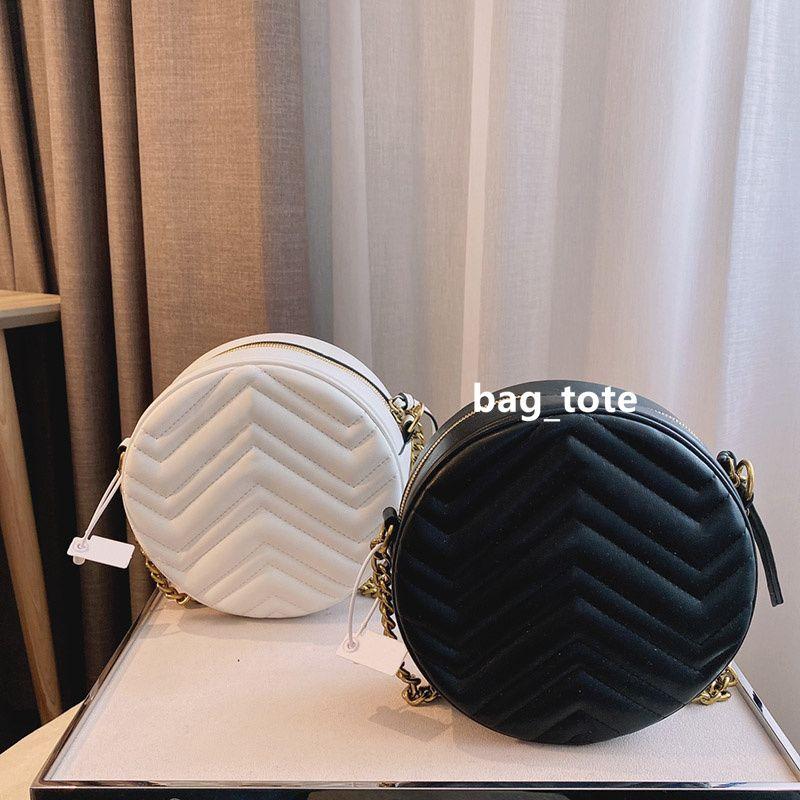 Tasarımcı kılıf çanta mini el çantaları chian omuz çantası kadın deri çanta bayan küçük yuvarlak çanta messenger çanta çanta omuz çantası kutusu ile
