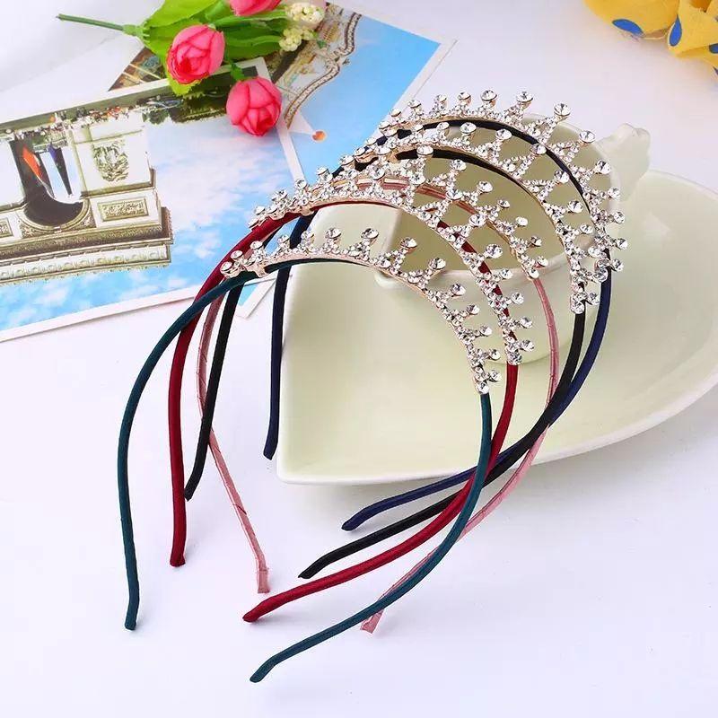 Zarif Hairbands Kristal Parlak Saç Hoop Kafa Taç Rhinestone Saç Hoop Prenses Kafa Ince Hairbands Saç Aksesuarları