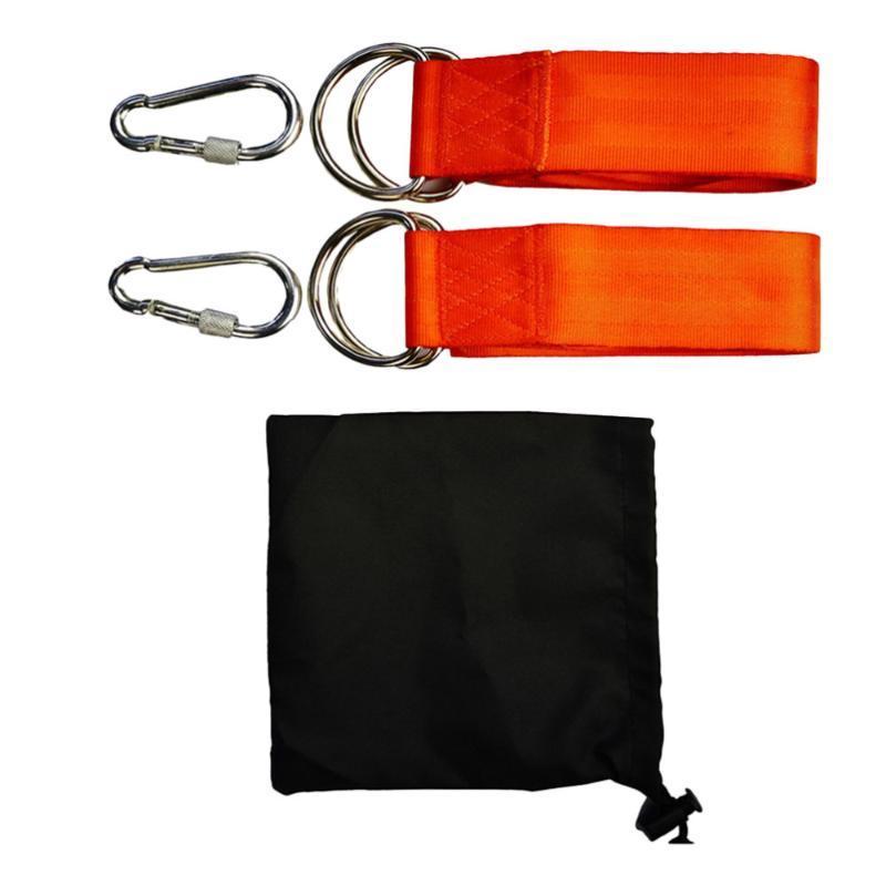 Sistemas de las correas de la hamaca Durables con los carabines D Anillo y la bolsa de almacenamiento Correa colgante Correa de hamaca para el árbol Camping al aire libre