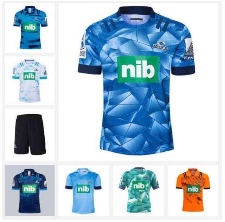 البلوز 2019 سوبر الرجبي جيرسي التدريب الفانيلة قميص دوري الركبي الوطني القمصان Zealand البلوز قمصان S-3XL 2020 Sport