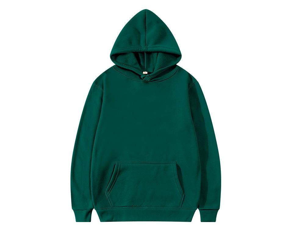 Men's Hoodies & Sweatshirts Spring And Autumn Fleece Hoodie Casual Fashion Pure Color Sweater Long Sleeve Warm Women's Pullover
