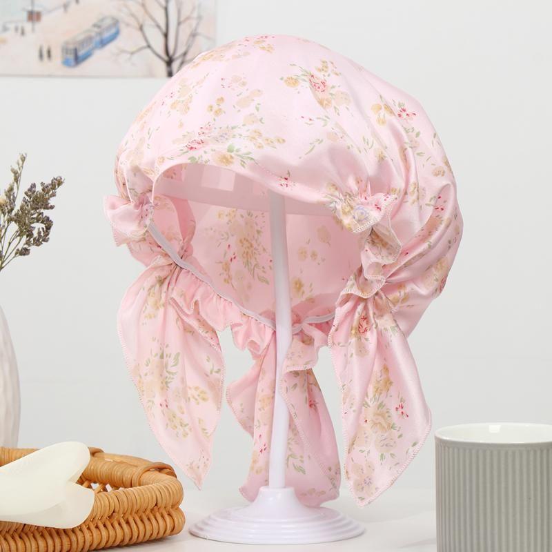 REAL SIK Night Sleeping Cap für Frauen Schlaf Hut Motorhaube glatt weich mit elastischen Bandmützen