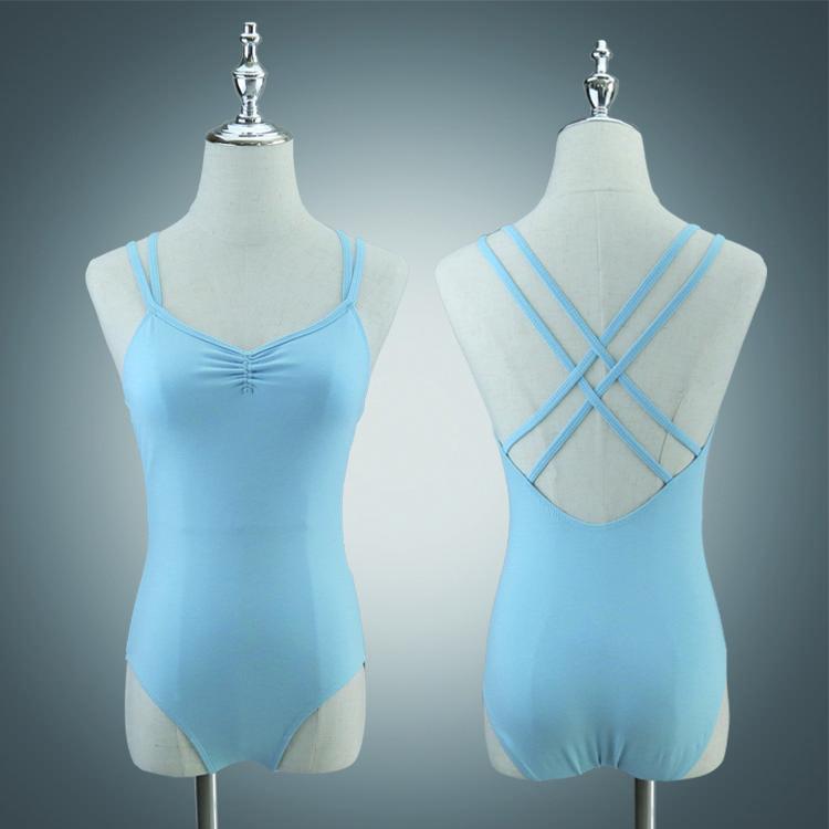Adulto Doble Correas Ballet Leotards Dance Wear Wholesale Camisole Balletwear A2038