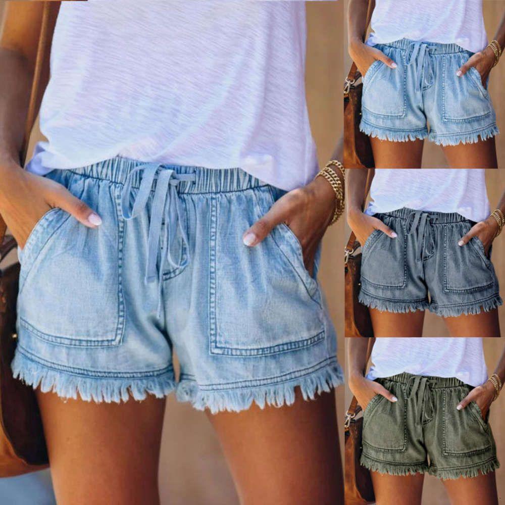 Mulheres Modo Mulheres Mujer Bolso Jeans Denim Brota Branco Bancada Bottom Casual Shorts Brukie Feminino Genie