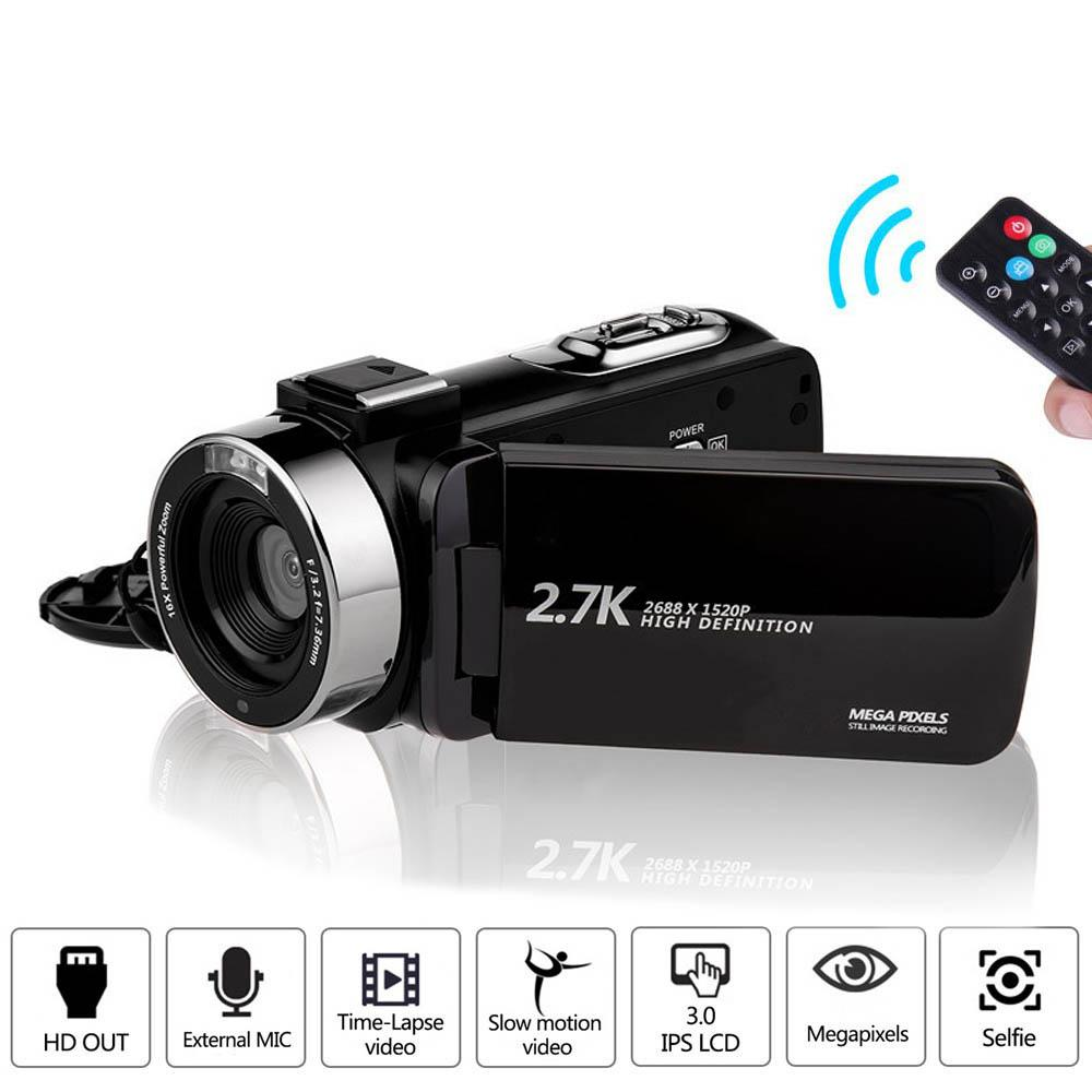 Camcorder 2.7K Ultra HD 30mp Videocamera per YouTube Live Streaming 16x Digital Zoom IR Night Touch Screen fotografare Cam