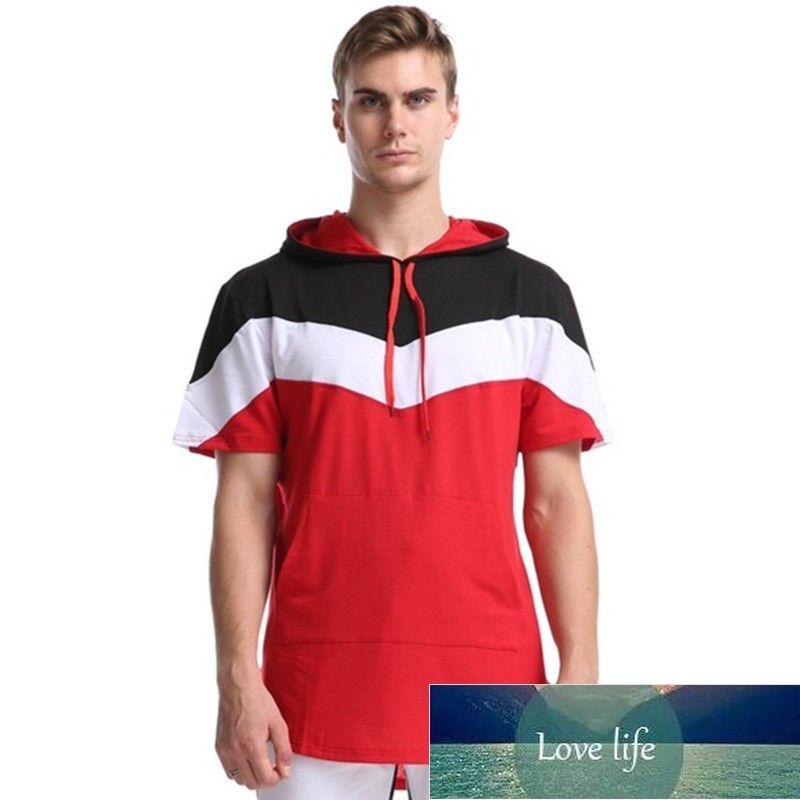 New Men's T Shirt Summer Hip hop Slim Fitness Hooded Short-Sleeved Tees Male Sportswer T-Shirt Slim Fashion Tshirt Homme 3X