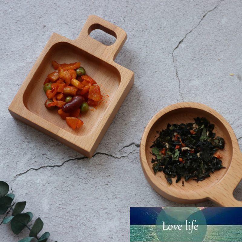 Masif Ahşap Sos Baharat Çanak Ev Pürüzsüz Ahşap Baharat Tutucu Tatlı Snack Çanak Ev Mutfak Eşyaları