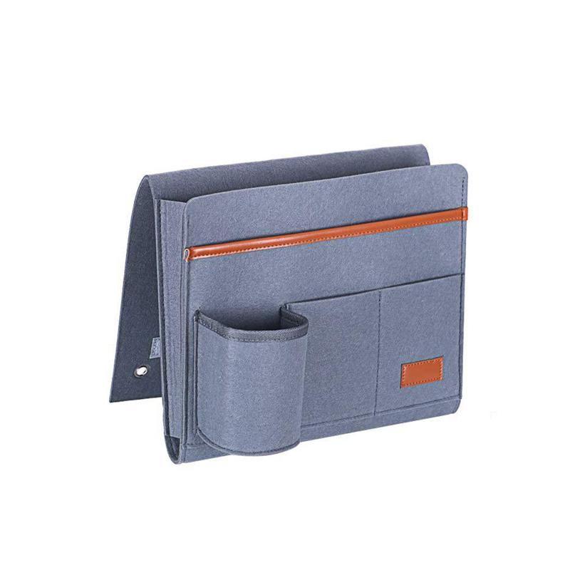 Supporto per borsa da comodino Caddy Organizer con 5 tasche Sentisi stoccaggio per appendere per le rotaie per letto