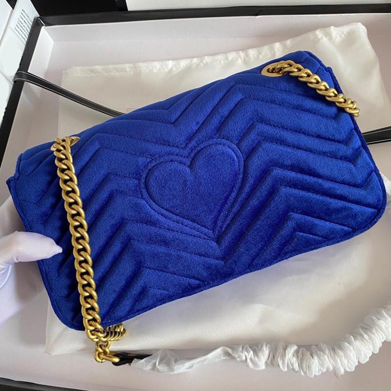 2021 Fashion velvet bag for women luxury handbag high quality chains tote bags ladies single shoulder Messenger handbags