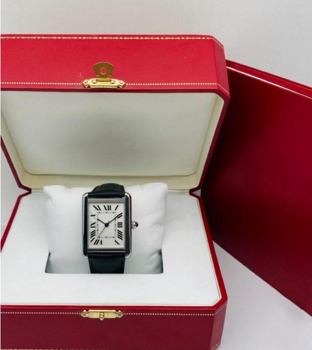 Mode Herren Frau Uhren Unisex Casual Armbanduhr 2 Größe Römische Ziffern Tank Design Multi Farbe Optional