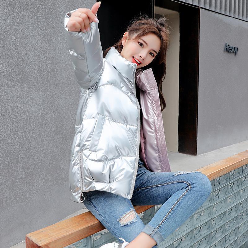 겨울 스타일로 코튼 여성의 한국 빵 자켓 스탠드 칼라 누비 이불 파카