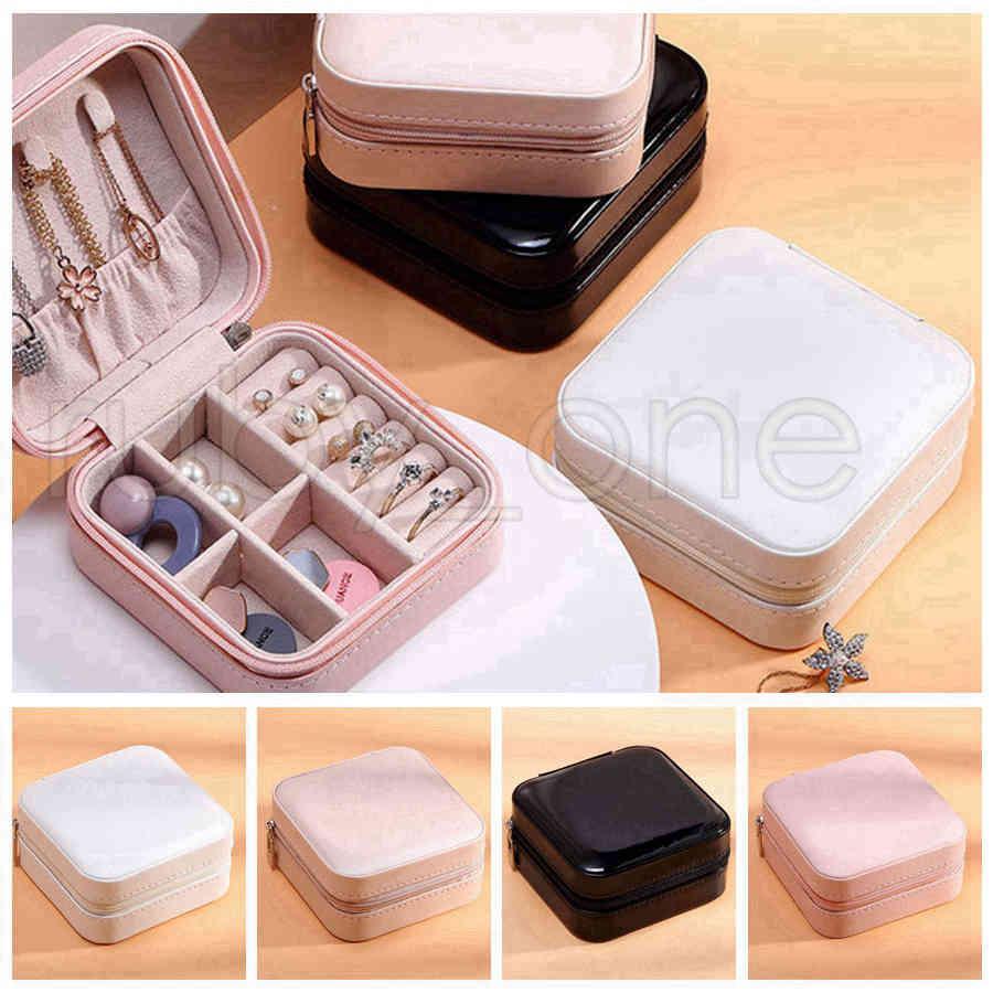 Box di viaggio Organizzatore PU Display in pelle per collana orecchini anelli Supporto per gioielli Case regalo Case Scatole di immagazzinaggio RRA3567 IVUX