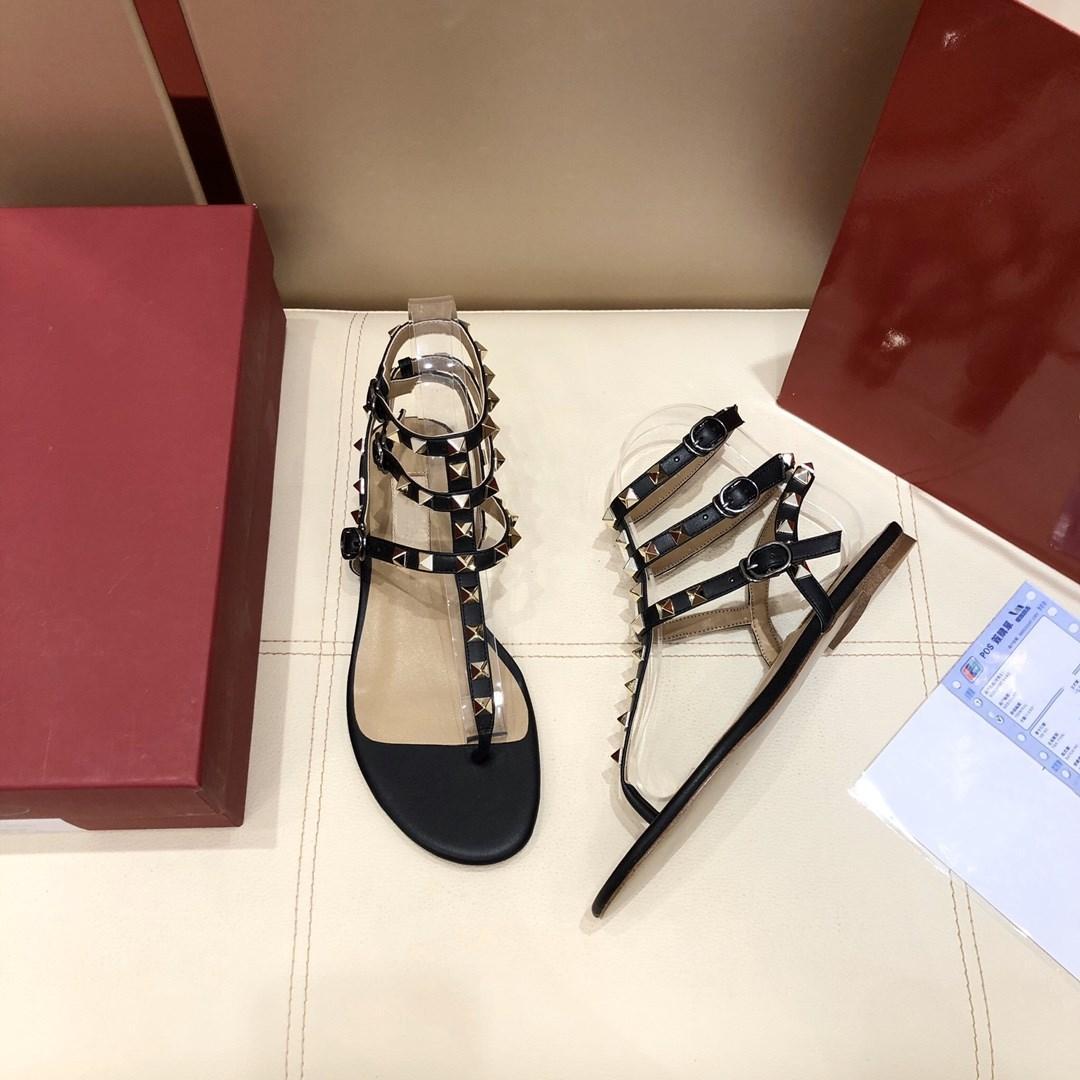 Rebites de Verão Rebites Gladiador Gladiador Sandálias Planas Pedras Studed Flip Sandália Sapatos Femininos Ajustáveis Laces