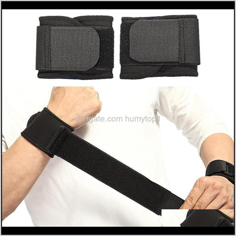 1 paio di polso regolabile da polso di supporto cinghia da ginnastica da polso da polso wrestling professionale protezione sportiva MWS1J LMOIT