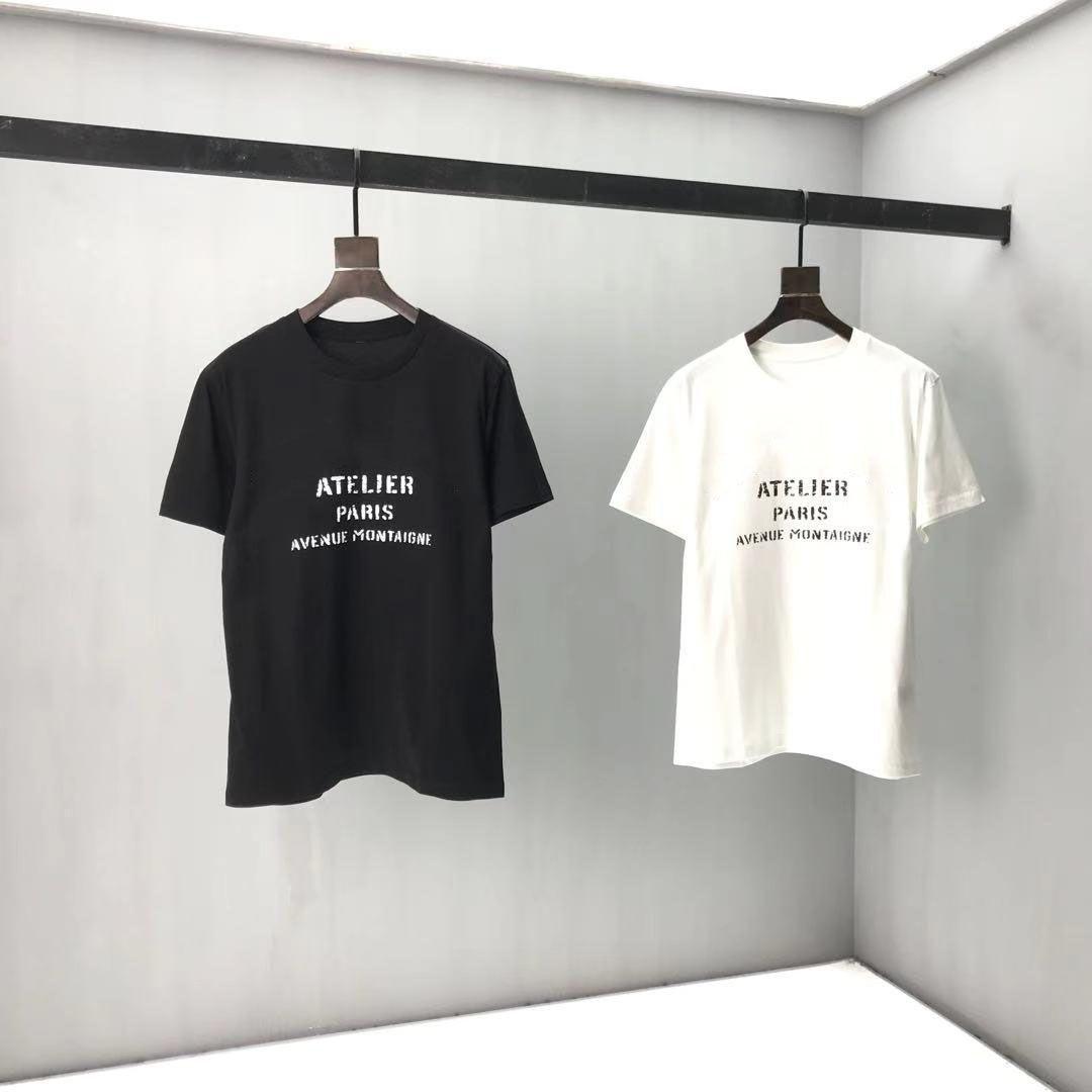 2021ss Spring and Summer NOUVEAU Panneau à col coton à manches courtes à manches courtes T-shirt T-shirt Tableau: M-L-XL-XXL-XXXL Couleur: Blanc Blanc MBM27