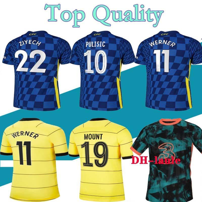 20 21 camiseta de fútbol Chelsea niños WERNER PULISIC KANTE ABRAHAM MONTAJE ZIYECH soccer jersey Men kids 2020 2021 kits de fútbol Chelsea jerseys maillot Camiseta