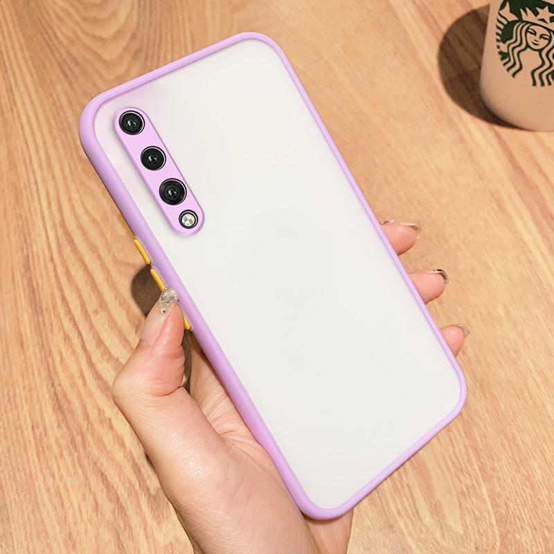 Huawei P20 프로 케이스 정밀 구멍 럭셔리 얇은 백 커버 P20Pro 보라색 가장자리 소프트 만화 6.1 인치 휴대 전화 파우치