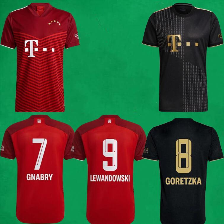 2021 2022 Bay Soccer Jerseys 21 22 Lewandowski Sane Goretzka Coman Müller Davies Gnabry Fußball Hemden Männer Kinder Sports Kits Camisa de Futebol